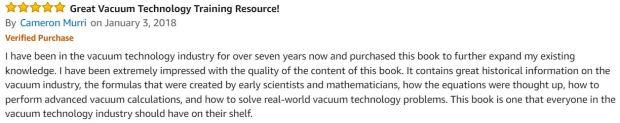 Understanding Modern Vacuum Technology Book comment